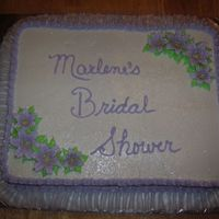 Simple Shower Cake The Bride knew of her Bridal Shower and she requested a simple cake in Lavender (lt. purple) and her mother requested the saying. Needless...