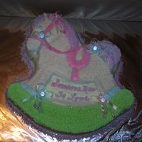 Finished Horse Of A Different Color This was the finished product. I had to wait for the mother to let me know what to put on the cake. Thank you all for sharing that you...