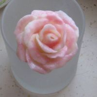 White Chocolate Rose I've been wanting to give this a try, it's white chocolate candy melts and corn syrup, then I brushed a little pearl dust on it (...