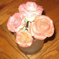 More Chocolate Clay Roses These are so fun to do! Gave them to my MIL-she loved them :)
