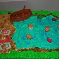 New20001Ma21825481-0003.jpg Boat made from fondant/gum paste, teddy graham for people and goldfish for fish.