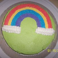 Wilton Course 1 Final Cake This was my first cake. Our class that day we were rushed, so I didn't get the chance to put any writing on it. And I have to say I...