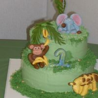 Jungle Birthday Cake I had been imagining my son's birthday cake for a month. It turned out differently then what I expected, but thought it was still ok....