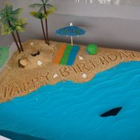 Buried In The Sand Birthday Made this cake for a friend's 1st birthday party. For the sand I used a box of graham cracker crumbs that I found in the super market...