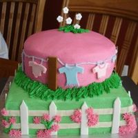 Picket Fence Baby Shower Cake