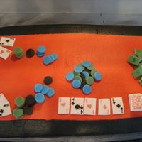 Texas Hold Em Poker Table Cake