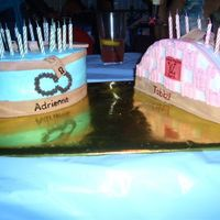 Aandtabby_Slittlehavanaparty20.jpg Cakes are iced with buttercream icing and accented with fondant.A Sky blue Coach purse with brown stitching and accents such as lock and...