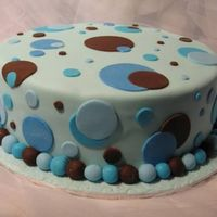 Polka Dot Cake Blue & Brown Polka Dot Cake Blue & Brown