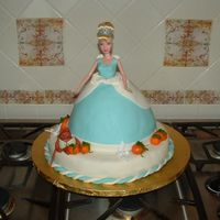 "Cinderella I got the idea for this cake from sue_dye on Cake Central, and she was nice enough to let me ""copy"" her design because I loved it..."