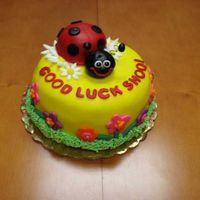 B2Ladybug.jpg  I work part time in a grocery store bakery, and this was for my boss who got a promotion in another store. She LOVES ladybugs, and I do too...