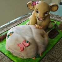 Simba From The Lion King Made the Simba with rice Krispies and the rock is the actual cake...... It was a fun challenge, enjoyed making it.