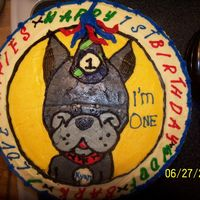 I Love Puppies This cake was done for a co-worker's grandson's first birthday. She brought me a plate and I had to do some investigating, I saw...
