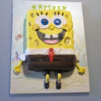 Spongebob Squarepants Birthday Cake This was actually a very last minute cake done for my nephew, it wasn't till the night before that my SIL decided to cut a cake for my...