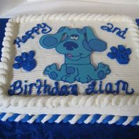 Blues Clues Cake This was for a little boys birthday. Blue is a Chocolate transfer.