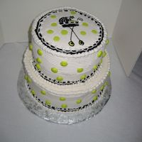 Polka Dot Baby Shower Cake Finally, a cake that I had fun doing again!!!