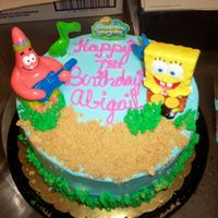 Sponge Bob Ice cream cake iced in Bettercream with deco pac