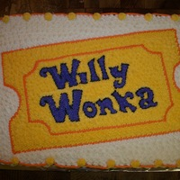 Willy Wonka This cake was raffled off at our school production of Willy Wonka