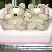 Teddy Bears   I made this one for my daughters 1st birthday. Shown on photo is top layer only. It was a marble cake.