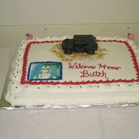Army Cake I made this for a welcome home party for our friend. He had just come back from Iraq. Used brown sugar for sand. His youngest son called it...