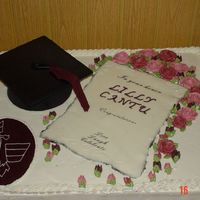 University Of Phoenix Graduation BC roses, rolled fondant diploma, sugar mold grad hat,