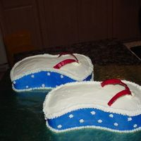 Flip Flops   I made this cake at the last minute for a 4th of July gathering. It's not my best, but is cute. Next time I will take my time