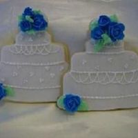 Wedding Cake Cookie Favors Sugar Cookie Favors, Covered in Fondant with RI decorations.