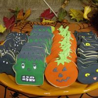 Monster Cookies Sugar cookies, covered with Fondant and decorated with royal icing