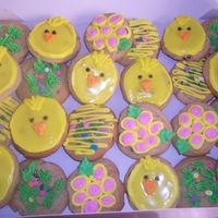 Easter Cookies chocolate chip cookies decorated with bc