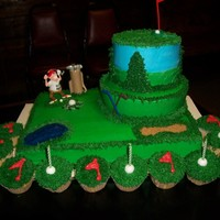 Golf Cake And Cupcakes   Marble cake all done in bc