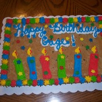 Cookie Cake chocolate chip cookie cake with bc candles