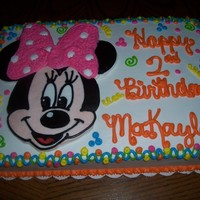 Minnie Mouse   white cake with fbct