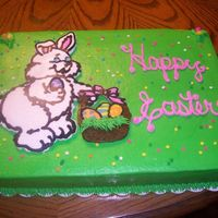 Bunny Cake   White cake with bc frosting