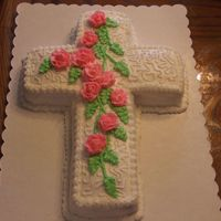 Dscf1773.jpg   cross cake with bc icing made and decorated by my husband.This was his first cake!!