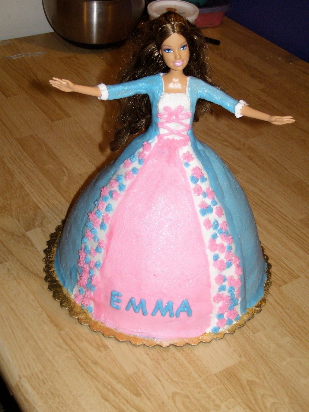 "Princess Erika Princess Erika was a request from a friend. I had never done a barbie cake before. She wanted two ""The princess and the pauper""..."