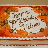 Fall 90Th Decoration based on a book by Roland A. Winbeckler. Buttercream.