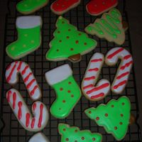 Christmas Cookies Getting in the holiday spirit!! NFSC and Antonia's icing.Thanks for looking!