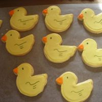 Ducky Cookies   I made these for a baby shower. NFSC and Antonia's icing.Thanks!