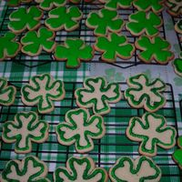 St. Patrick's Day Cookies Originally these were supposed to be a bit more detailed and completely filled in but I lost all my drive by the end of a looong day. They...