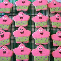 Patrick  Patrick cookies for a Sponge Bob themed party. I used sugar cookie mix from a bag, reason is that I didn't want the cookies to hold a...