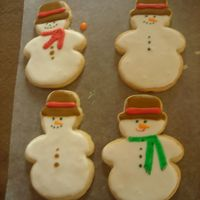 Snowmen Getting in the holiday spirit!! NFSC and Antonia's icing.Thanks for looking!
