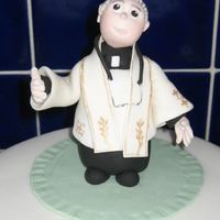 Fr Dominic  Cake made for local priest who was moving to another parish. I always have such a laugh when I'm doing figures, especially when I do...
