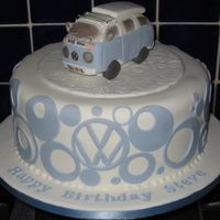 Steve's Camper  40th Birthday for a hippy at heart! He owns a VW Camper Van, which I attempted to replicate in icing - looks more like a renault scenic!! I...