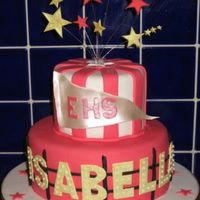 Isabella In Lights!  Birthday cake for an 8 year old HSM fan! Totally got the font wrong for the EHS, hopefully made up for it with her name in lights!...