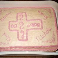 Daughter's Baptism All BC cake for my middle daughter's baptism. I had only been decorating about a year when this one was made. It is not one of my...