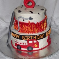 Fire Truck Birthday cake made for a little guy having his bday at the firestation!