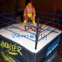 Wrestling Ring Hulk Hogan in the ring