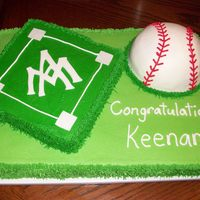 College Baseball Signing Cake Made for a guy who just signed on with a college baseball team.