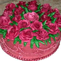Mother's Day Roses   I did this for my mom last year. The entire cake is iced with buttercream, including the roses.