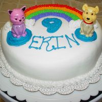 Rainbow Birthday Cake   I made this for a friend's little girl. The nail polishes made great decorations and were an added bonus Birthday gift.