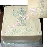 Baptism Cake This design was brought to me by a friend. She found the pic on the web and I had to do it just like the orig. with an adjustment to the...